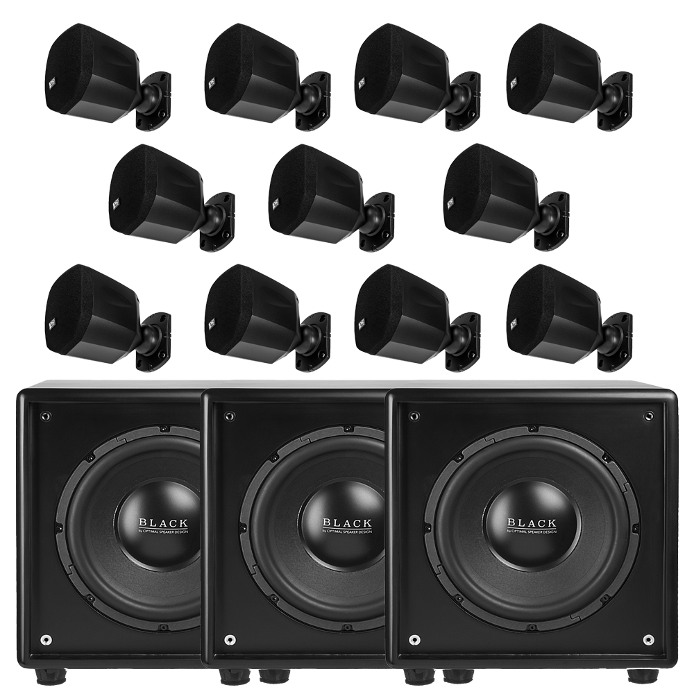 11.3 Complete 11 Speakers w/ 3 Power Subwoofers Dolby Atmos