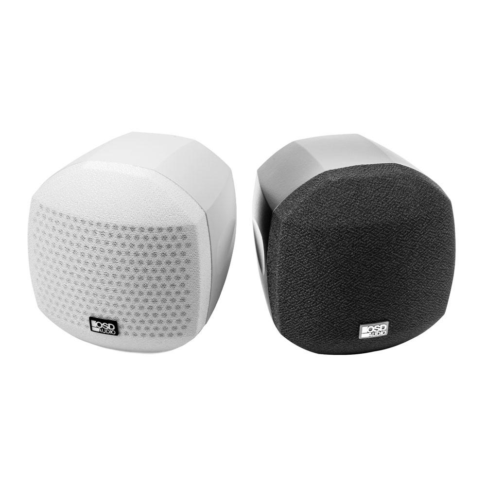 "OSD Nero 3"" Cube Speaker Mountable Swivel Home Theater Setup 25W RMS Power Black/White Single"