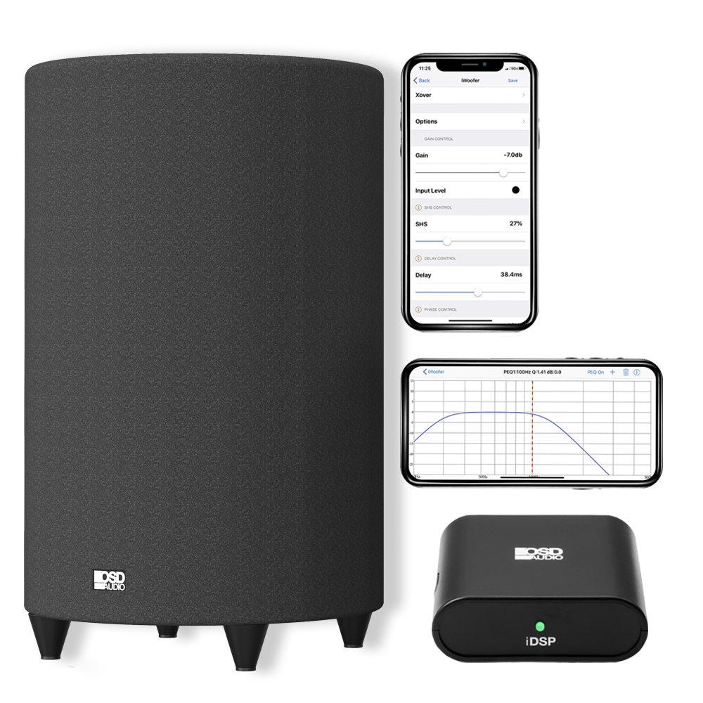 """Nero TubeBass 10"""" Powered Subwoofer with iDSP EQ Room Tuning Kit App Control"""
