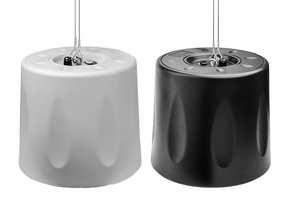 """OSD Black 8"""" Pendant Hanging Speaker 70V/8ohm Single White/Black"""