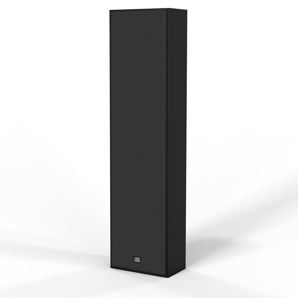 """OSD Black S82 MK2 Triple Tweeter OnWall Speaker w/ Custom Crossover and 8"""" Fiber InterWeave Woofer"""