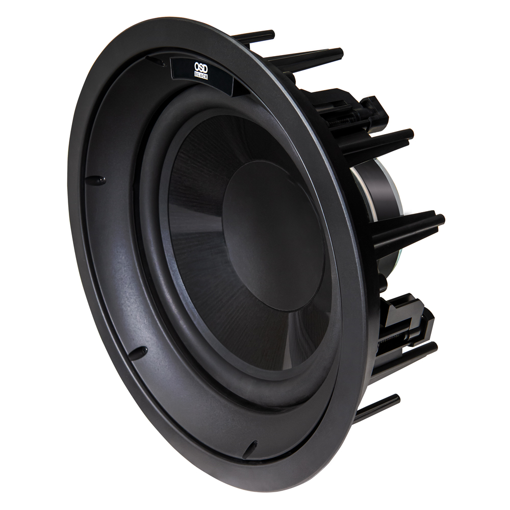 """R10 In Ceiling 10"""" Subwoofer w/ Long Excursion Graphite Woofer, 200W w/ Construction Bracket"""