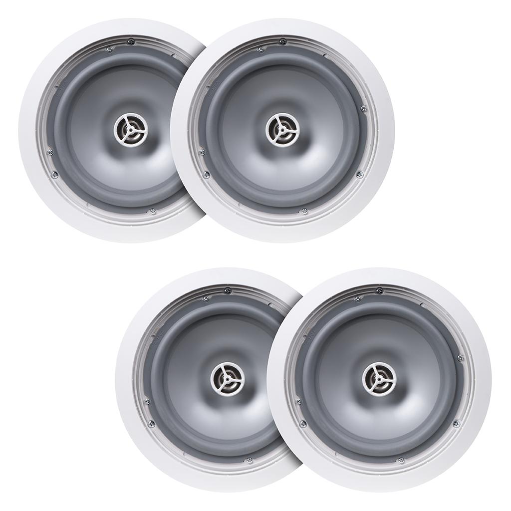 "6.5"" Weather Resistant 150W Outdoor In-Ceiling Speaker Pair, ICE600WRS - 2 Pairs"